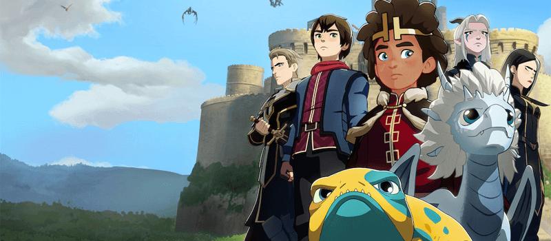 os filmes animados e séries de TV da 4ª temporada do príncipe do dragão chegando à netflix em 2021 e além