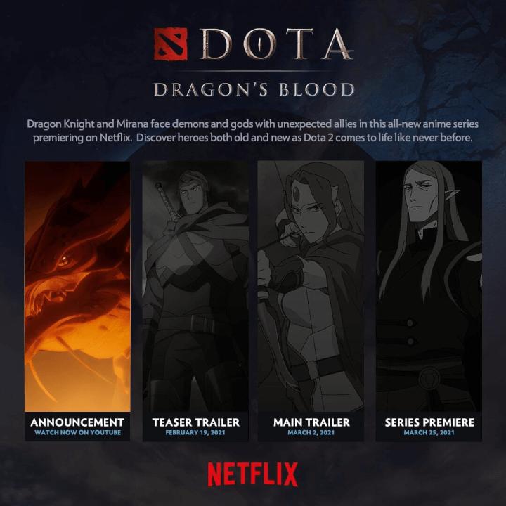A série de anime Dota Dragons Blood chega à Netflix em março de 2021.