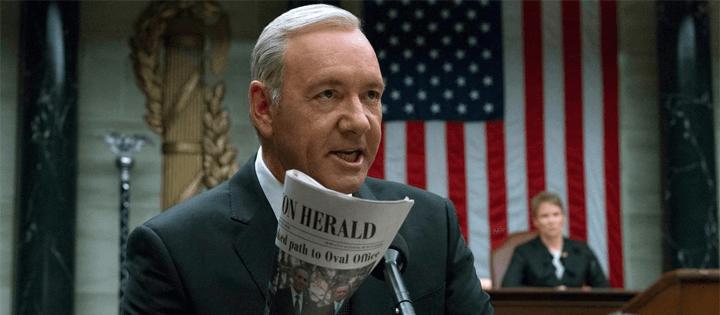 melhores vilões da netflix tv presidente frank underwood castelo de cartas
