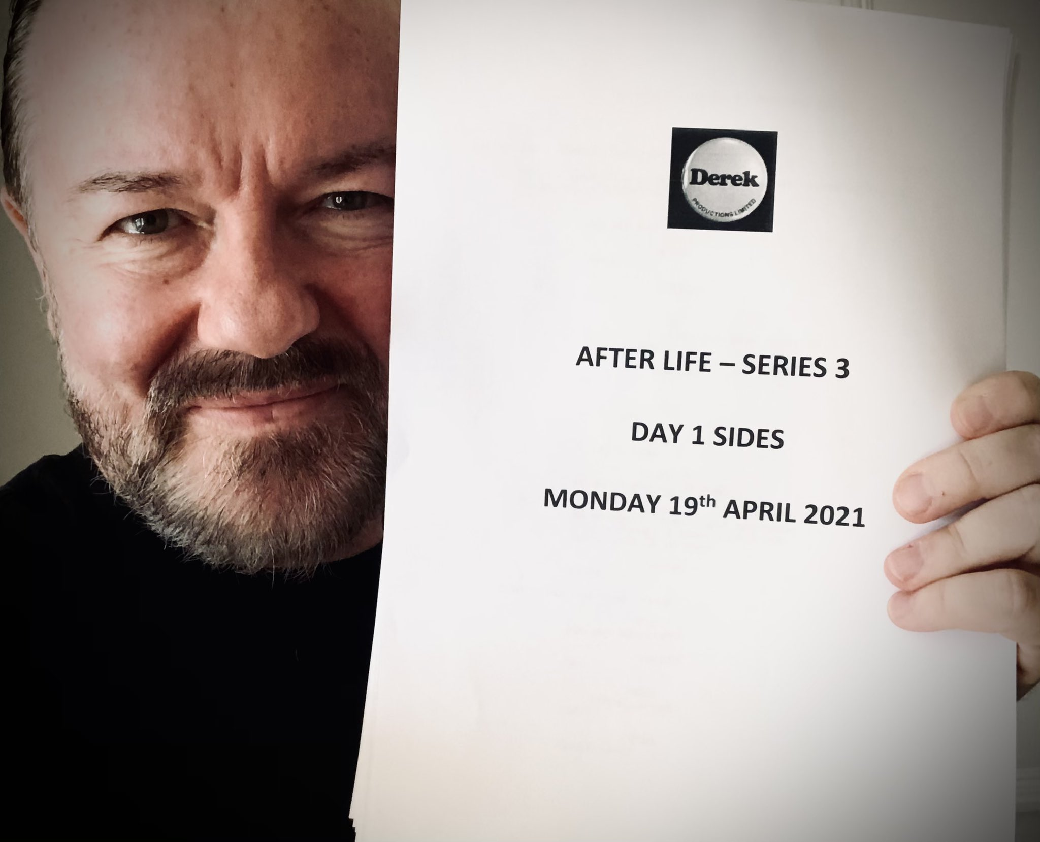 notas de produção da série 3 após a vida, abril de 2021
