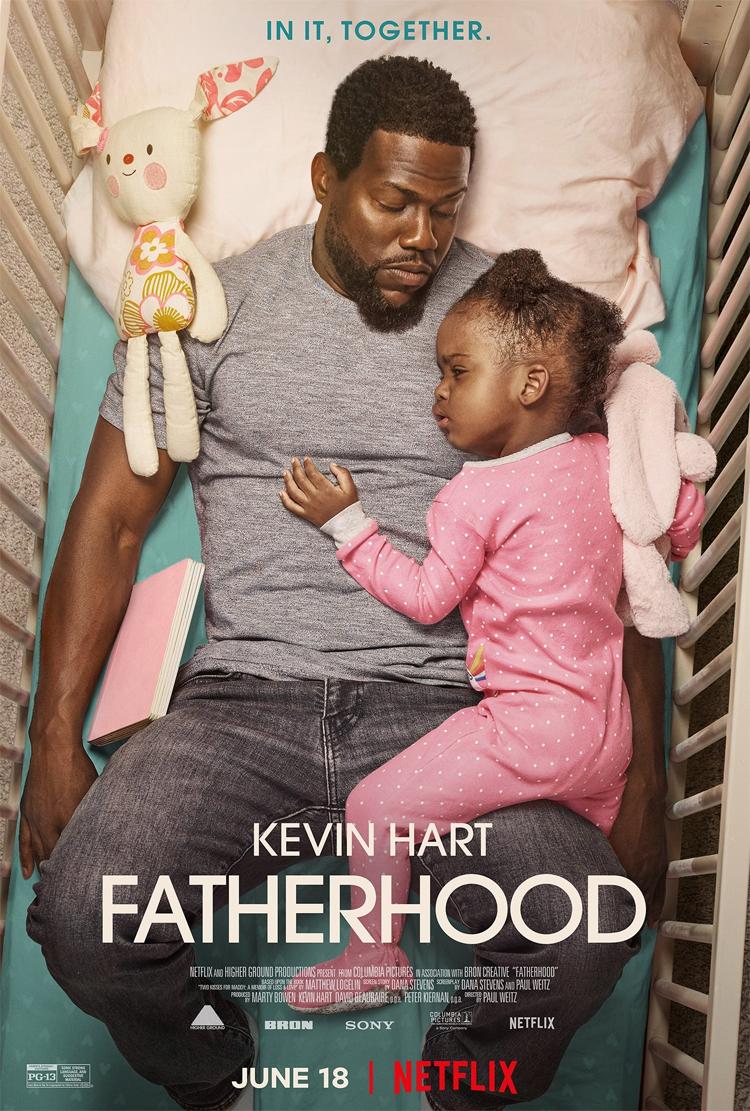 Netflix Movie Fatherhood, estrelado por Kevin Hart, em junho de 2021 Pôster da Netflix