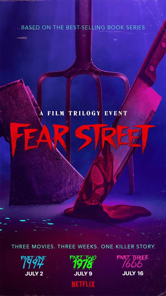 pôster da Netflix da trilogia da rua do medo