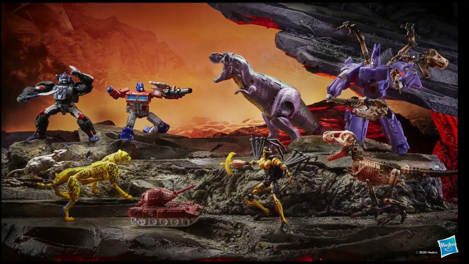 Guerra de transformadores para Cybertron Kingdom Wave 1 conjunto de 10 - brinquedos Kapow