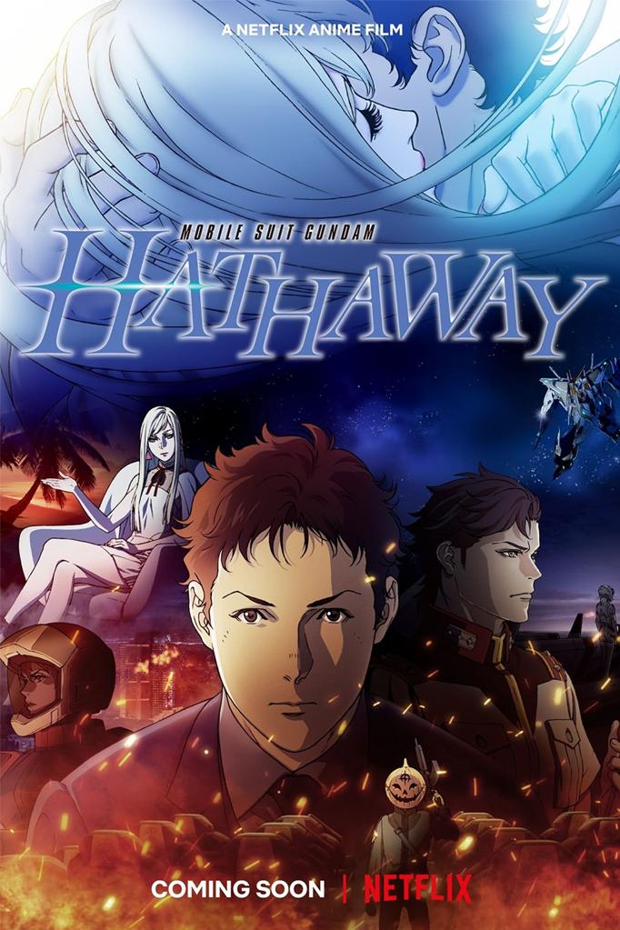 Netflix Anime Movie Mobile Suit Gundam Hathaway Pôster O que sabemos até agora