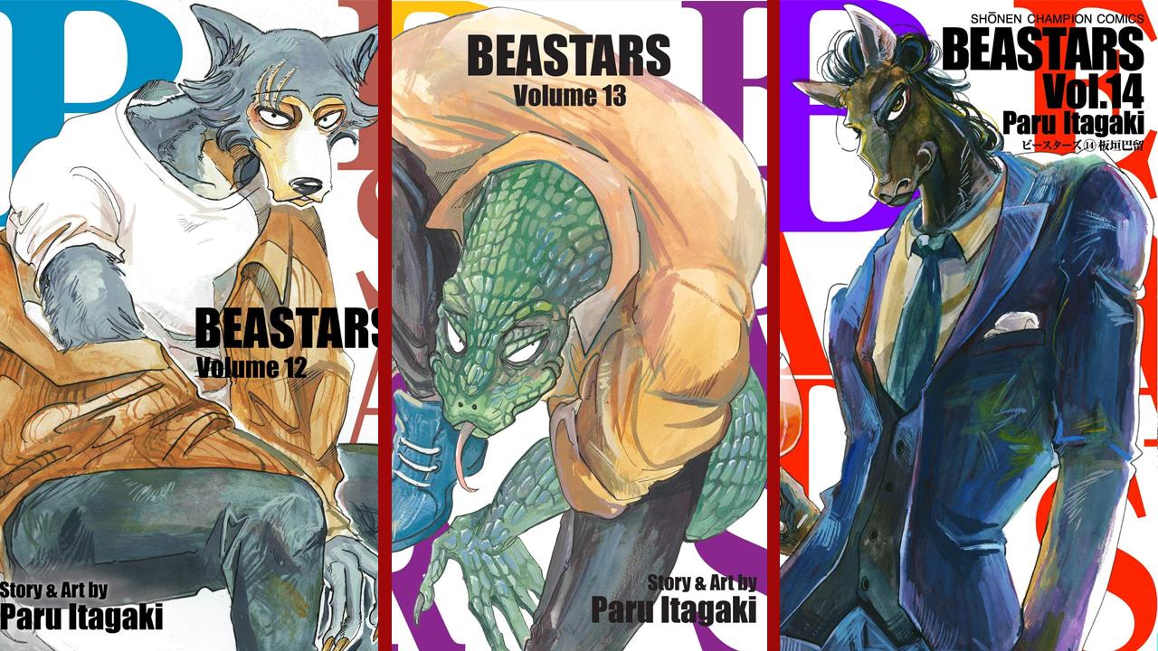beastars mangá volumes 12 13 14 netflix