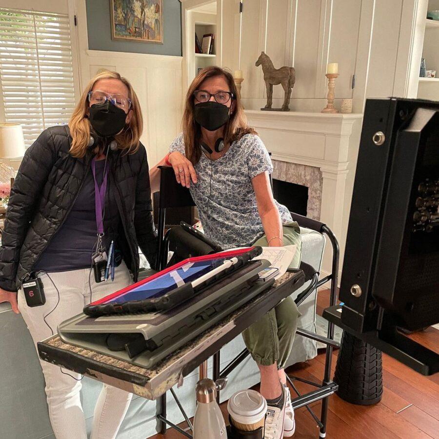 Foto do set da 7ª temporada de Grace e Frankie