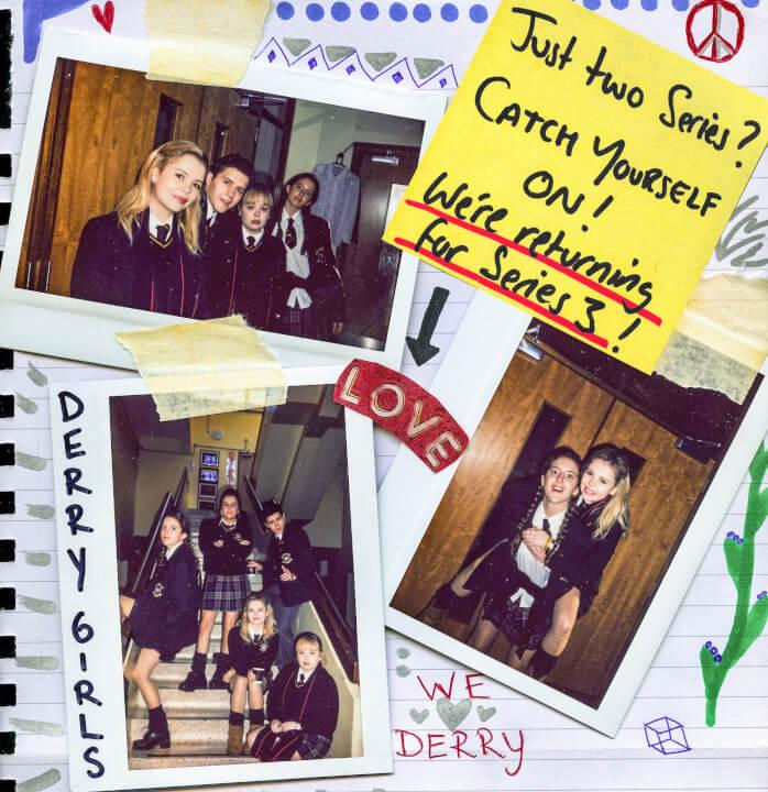 Anúncio da terceira temporada das Derry Girls