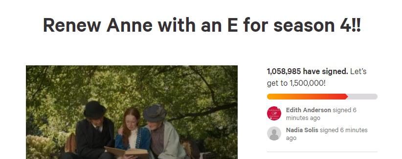 1 milhão de assinaturas anne com um e